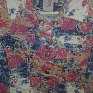 Floral-printed Ladies Jean Jacket